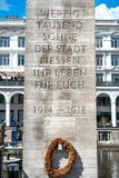 Rathaus/ратуша Гамбурга стоковая фотография