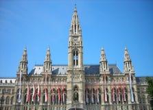 Rathaus (城镇厅)维也纳,奥地利 免版税库存照片