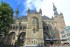 Rathaus in Aachen Stockfotos
