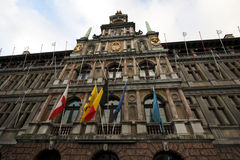 Rathaus in Antwerpen, Belgien lizenzfreie stockfotografie