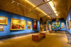 Rathaus Art Gallery in London, Großbritannien stockbild