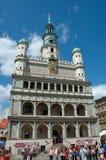 Rathaus auf Markt in Posen Lizenzfreie Stockfotos
