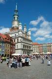 Rathaus auf Markt in Posen Stockfotografie