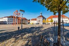 Rathaus auf Quadrat in Bischofswerda Stockfoto