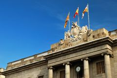 Rathaus in Barcelona Stockfoto