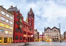 Rathaus, Basel Town Hall - Switzerland Stock Photography