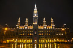 Rathaus building in Vienna, Austria Royalty Free Stock Image