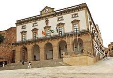 Rathaus, Caceres, Extremadura, Spanien Stockbilder