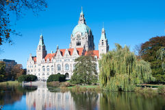 Rathaus, City Hall, Hannover, Germany. Royalty Free Stock Images
