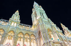 The Rathaus City Hall of Vienna , Austria. Stock Photography