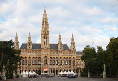 Rathaus (City hall) in Vienna, Austria in the morning Royalty Free Stock Photo