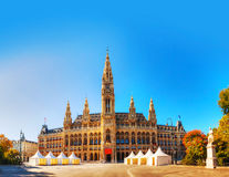 Rathaus (City hall) in Vienna, Austria in the morning Stock Photography