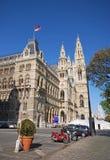 Rathaus (City hall) in Vienna, Austria. Stock Photos