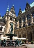Rathaus Courtyard. Hamburg City Hall, Germany Stock Photo