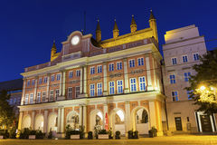 Rathaus der Hansestadt在罗斯托克在德国 库存图片