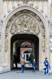 Rathaus der Stadt von Brüssel, ein Gebäude des gotischen Baustils bei Grand Place in Brüssel, Belgien Lizenzfreie Stockbilder