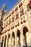 Rathaus em Viena, Áustria imagens de stock royalty free