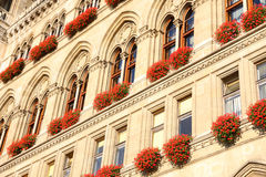 Rathaus em Viena, Áustria fotografia de stock
