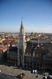 Rathaus en Munich foto de archivo