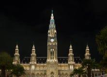 Rathaus en Viena Austria Fotos de archivo