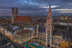 Christmastime in Munich, Bavaria Royalty Free Stock Images