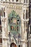 Rathaus-Glockenspiel, Munich Marienplatz. The Rathaus-Glockenspiel clock at the Munich Marienplatz Stock Image