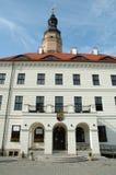 Rathaus in Glogow, Polen Stockfotografie