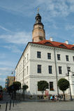 Rathaus in Glogow, Polen Stockfotos
