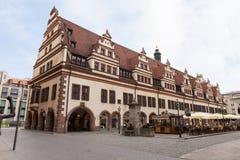 Rathaus (hôtel de ville) à Leipzig photos libres de droits