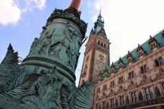 Rathaus, Hamburg, Duitsland stock afbeelding