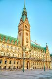 Rathaus of Hamburg, Germany. Early in the morning stock images