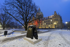 Rathaus Hannover in winter Royalty Free Stock Images