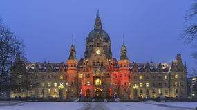 Rathaus Hannover in winter Stock Image