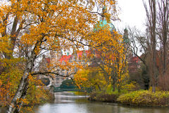 Rathaus from Hanover in autumn Stock Images