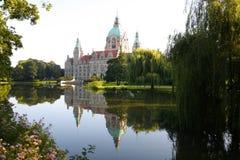 Rathaus i Hannover, Tyskland Arkivfoton
