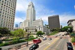 Rathaus, im Stadtzentrum gelegenes Los Angeles Stockfotos