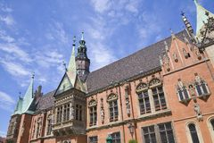 Rathaus im Wroclaw Stockbild