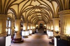 Rathaus interno (câmara municipal), Hamburgo, fotografia de stock