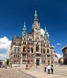 Rathaus in Liberec, Böhmen, Tschechische Republik stockbilder