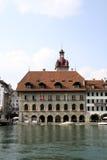 Rathaus in Luzern Lizenzfreies Stockbild