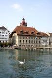 Rathaus in Luzern Lizenzfreies Stockfoto