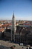 Rathaus in Munich. Building of Rathaus (city hall) from tower in Munich, Germany Stock Photo