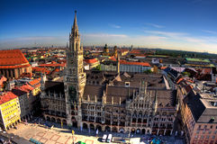 Rathaus in Munich. Building of Rathaus (city hall) from tower in Munich, Germany Stock Photography