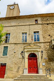 Rathaus, Murviel-les-Beziers, Languedoc-Roussillon, Frankreich Lizenzfreies Stockbild