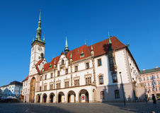 Rathaus in Olomouc Stockfotos