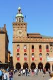 Rathaus Palazzo D'Accursio im Bologna, Italien Lizenzfreie Stockfotos