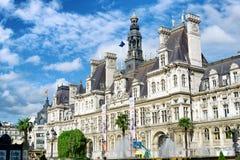 Rathaus in Paris, Frankreich Lizenzfreie Stockfotos