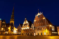 Rathaus-Quadrat, Riga, Lettland Lizenzfreie Stockfotografie