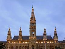 Rathaus (Rathaus) in Wien Österreich lizenzfreie stockbilder