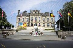 Rathaus Sainte Mère Eglise Stockfotografie